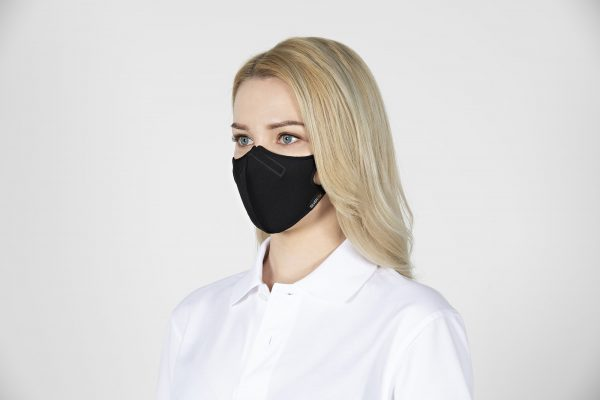 Woman wearing most breathable face mask