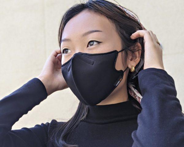 Woman wearing high-end mask - NanoFit Mask