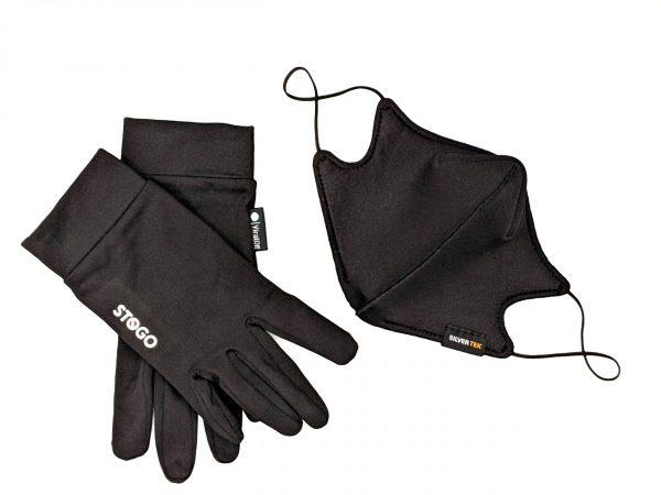 designer mask, antimicrobial gloves